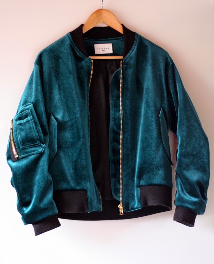 New in: Sandro green suede bomberjacket Image 1